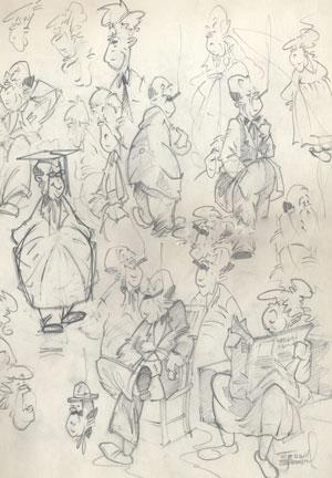 Merrill Coffin Cartoon Characters