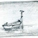 White Boat Sketch