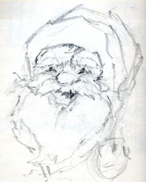 Merrill Coffin's Santa Claus Sketch