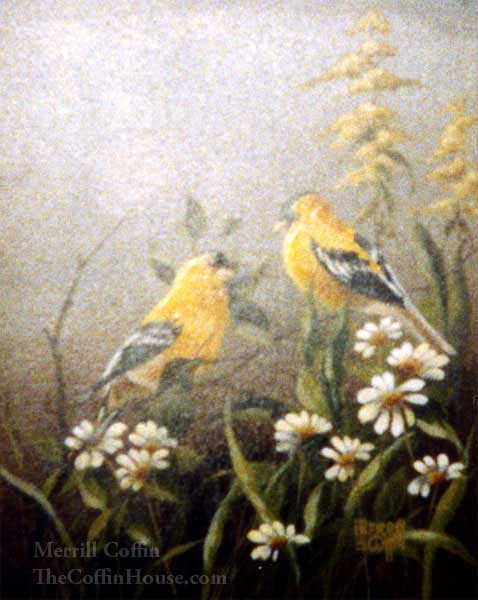 Merrill Coffin Yellow Finch Painting