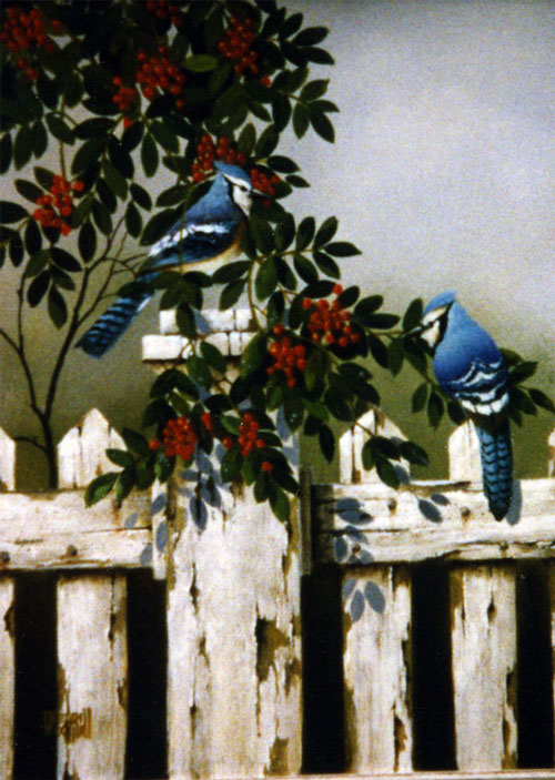 Merrill Coffin Blue Jay Painting