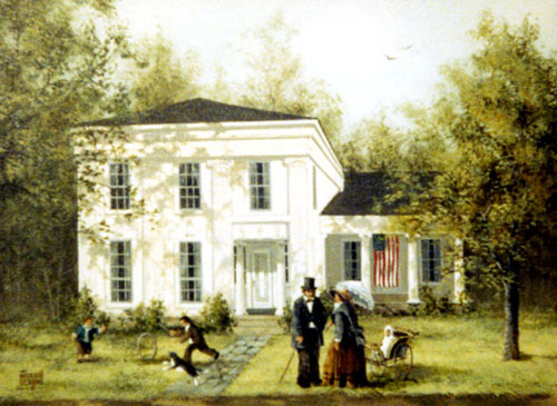 Rendition of the Butler Home in Ashville New York