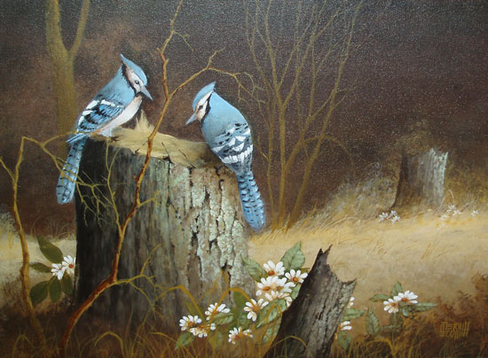 Blue Jay painting
