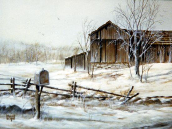 Merrill Coffin Winter Barn