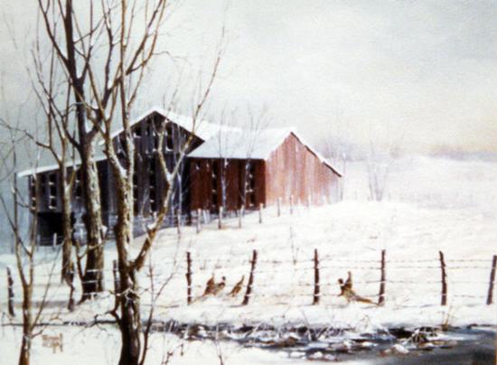 Barn and The Pheasants