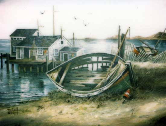 Merrill Coffin Seascape Painting