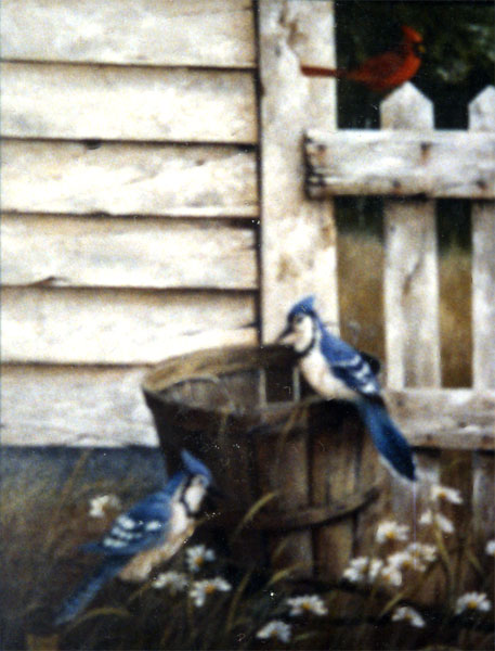 Blue Jay and the Basket