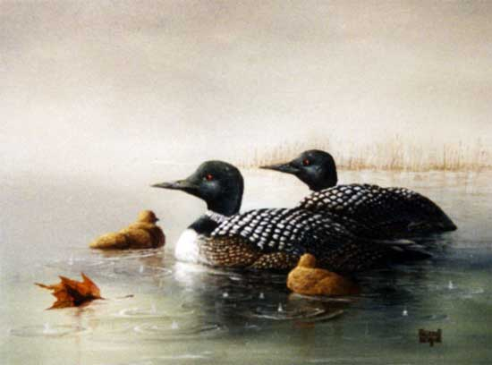 Merrill Coffin Duck Painting