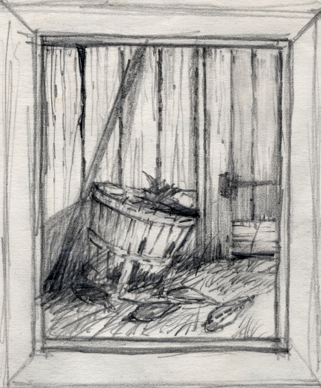 Study for the basket and corn