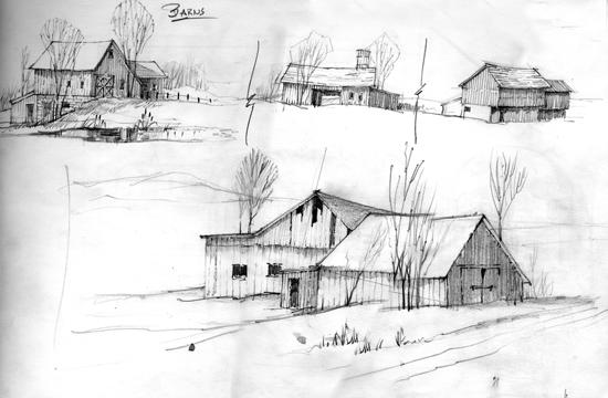 Merrill Coffin Barn Study