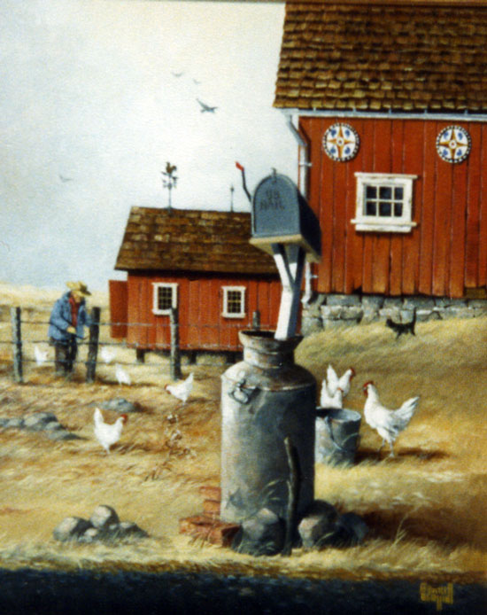 Red Barn and the Chickens