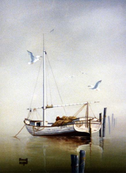 docked-white-boat